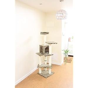 """Leopard Skin 60"""" Cat Tree Condo Scratcher House Post Furniture 5666"""