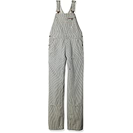 Carhartt womens Brewster Double Front Railroad Striped Bib Overalls