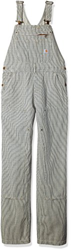 Carhartt Women's Brewster Double Front Railroad Striped Bib Overalls, XL Standard]()