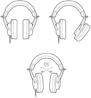 Audio-Technica ATH-M20x Professional Studio Monitor Headphones, Black 41B7 sFXMML