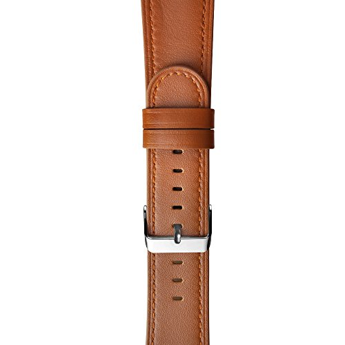 Compatible with Apple Watch Band, COVERY 42MM Watch Band Genuine Leather Strap Stainless Metal Buckle Compatible Apple Watch Series 3, Series 2, Series 1, Sport & Edition- Brown by COVERY (Image #6)