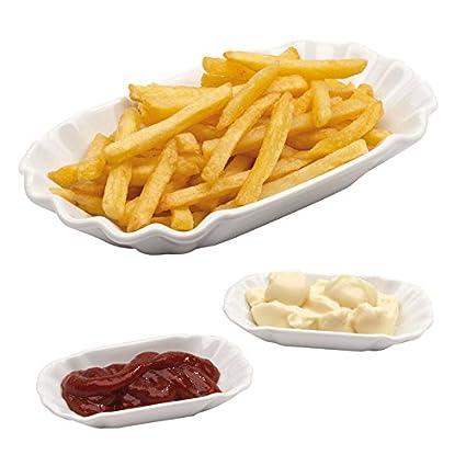 3 piezas patatas – Juego de cuencos patatas frittes – Cuenco de pasta para servir para