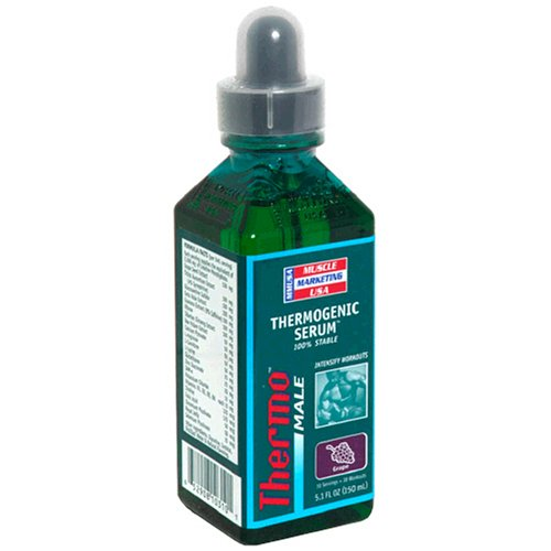 Muscle Marketing USA Thermo Male Thermogenic Serum, Grape, 5.1 Ounces