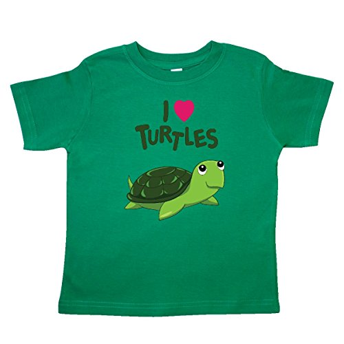 inktastic - I Love Turtles Toddler T-Shirt 4T Kelly Green 272fe