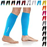 NEWZILL Compression Calf Sleeves (20-30mmHg) for Men & Women - Perfect Option to Our Compression Socks - for Running, Shin Splint, Medical, Travel, Nursing, Cycling (L/XL, Solid Blue)