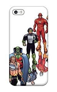 5187796K87275064 Rugged Skin Case Cover For Iphone 4/4s- Eco-friendly Packaging(justice League)