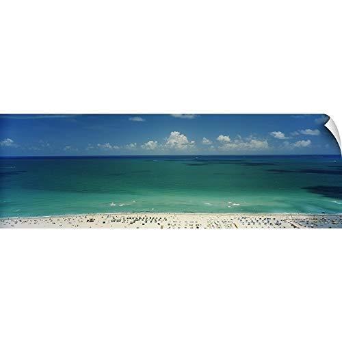 Canvas On Demand Wall Peel Wall Art Print Entitled Beach  South Beach  Miami Beach  Florida 90 X30