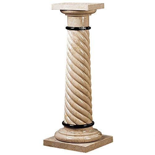 Design Toscano Bottochino Spiraled Solid Marble Column