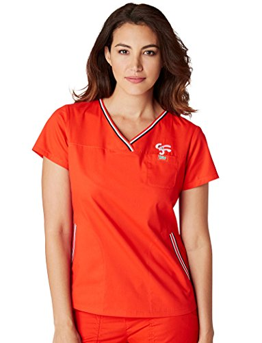 koi-by-general-mills-womens-ashley-crossover-v-neck-solid-scrub-top-small-chili-red