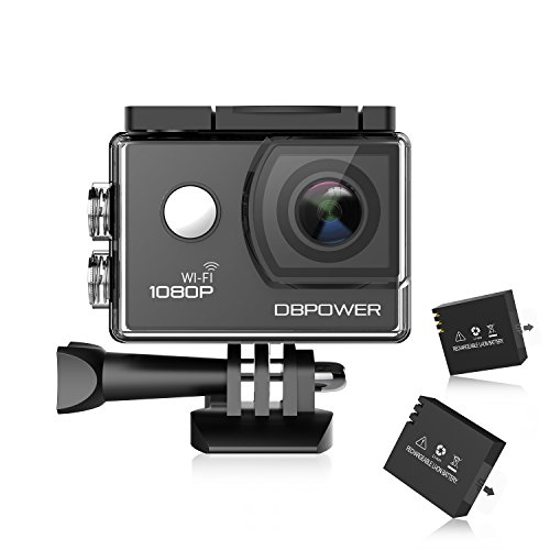 DBPOWER SJ4000 Sports Camera 1080P HD Wifi 12MP Waterproof Action Camcorder 170 Degree Wide Angle 30M / 98ft Waterproof 1.5 inch LCD Screen With 2 Pcs Rechargeable Chargers