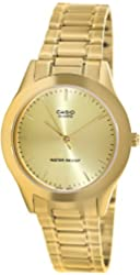 Casio Men's MTP1128N-9A Gold Gold Tone Quartz Watch with White Dial