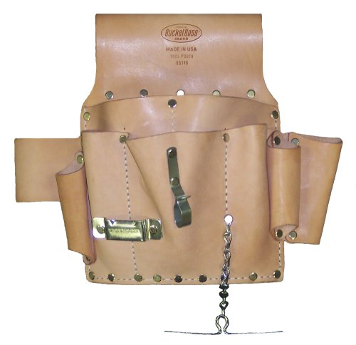Bucket Boss 55115 Electrician?s Pouch, Saddle Leather