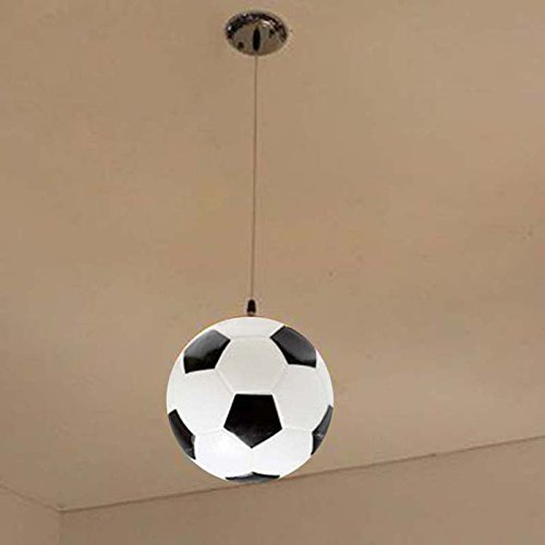 D Fußball Kronleuchtern, einem Kopf E27 Kinderzimmer Deckenleuchte Gang Lichter Zimmer kronleuchter Gymnasium Beleuchtung Mode (Farbe  D)
