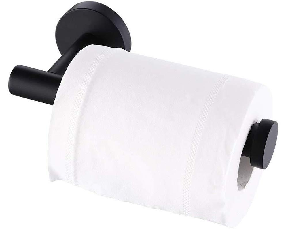 KES Toilet Paper Holder Bathroom Tissue Holder Paper Roll Dispenser SUS 304 Stainless Steel Wall Mount Matt Black, A2175S12-BK by KES
