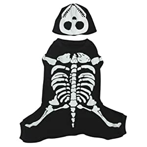 Casual Canine Cotton Glow Bones Dog Costume, X-Large, 24-Inch