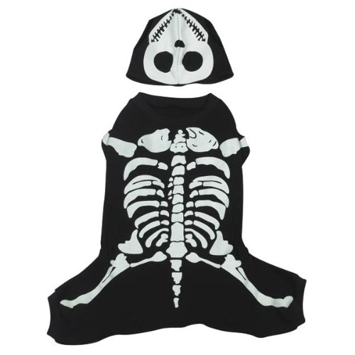 Casual Canine Cotton Glow Bones Dog Costume, X-Large, 24-Inch]()