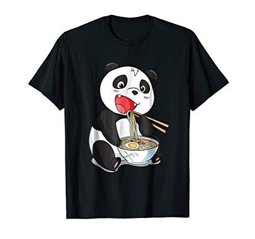Kawaii Japanese Panda Cat Ramen Shirt   Giant Panda Gift Tee