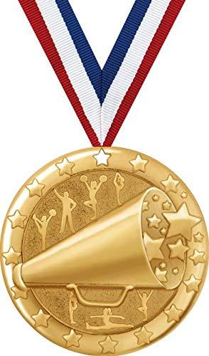 チアメダル - 2インチ ゴールドチアチームメダル賞 プライム B07GDTRH1N  50