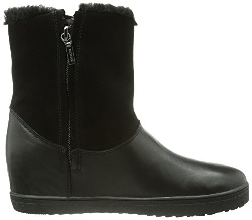 Boot Amaranth High Wedge Black Snow Geox Women's qwOXxSnR