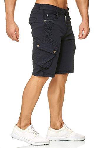 Da Pantaloni Carico Egomaxx Scuro Pantaloncini Uomo Bermuda Chino Corti Blu OPuiwkXTZ