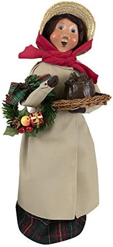 Byers Choice Duster Woman Figurine 1197W from The Caroling Families Collection