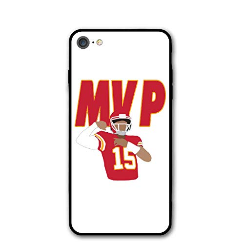 Slim Fit iPhone 7/8 Silicone Case, Kansas City Mahomes MVP Shock-Absorption Anti-Scratch Bumper Cover Dustproof Full Body Drop Protection Cover for Apple iPhone 7/8