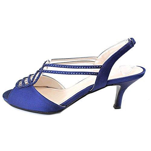 Caparros Donna Philomena Tela Open Toe Sandali Slingback Formale Blu Scuro