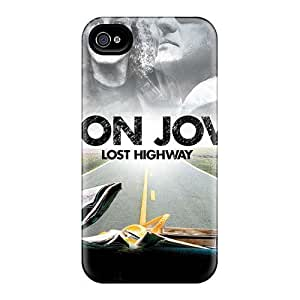 DrawsBriscoe Iphone 4/4s High Quality Hard Phone Case Unique Design Colorful Bon Jovi Skin [qlj212GyuS]