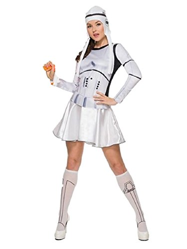 Star Wars The Force Awakens Womens Sexy Stormtrooper Halloween Costume M (10-14) (Storm Trooper Sexy)