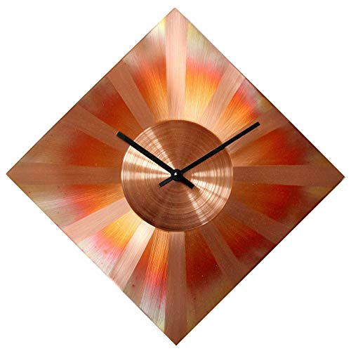 Sunny Copper Diamond Rhombus Wall Clock - Copper Wall Decorations
