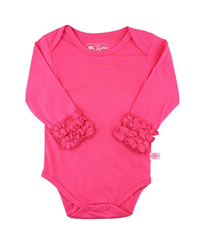 - RuffleButts Baby/Toddler Girls Candy Ruffled Long Sleeve Layering Bodysuit - 3-6m