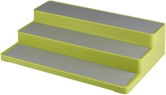 Especiero de 3 Pisos con Escalera, estantería, Armario, Armario, Cocina, Estante de Especias Blanco-Verde_Un: Amazon.es: Hogar