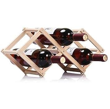 Hq Perfect Shop Inicio Estante De Madera Plegable Para Vino 3