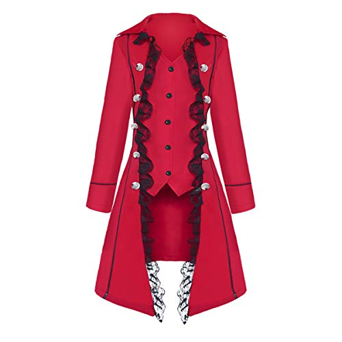 Yan Dream Women's Gothic Steampunk Corset Victorian Tailcoat Jacket Halloween Costume Coat