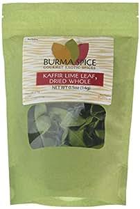 Dried Kaffir Lime Leaves in Bag, 0.5oz