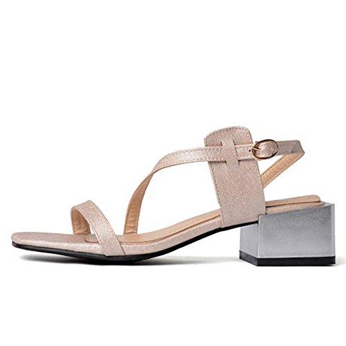 Beige Women Shoes TAOFFEN Strap Simple 8 Summer wOgX7Fq