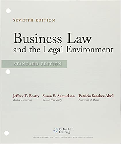 Business law and the legal environment standard edition jeffrey business law and the legal environment standard edition jeffrey f beatty susan s samuelson 9781305633612 amazon books fandeluxe Image collections