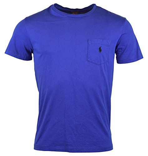 Polo Ralph Lauren Mens Classic Fit Pocket Logo T-Shirt - S - Reflex Blue (Classic-fit Polo Pocket Tee)