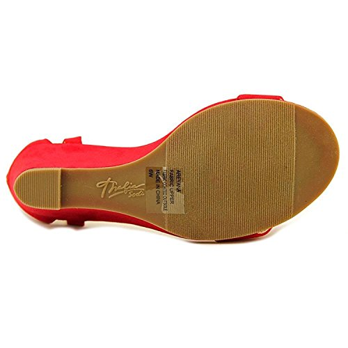 Areyana Womens Sodi Casual Platform Thalia Open Toe Red Sandals 1pqxnnZO