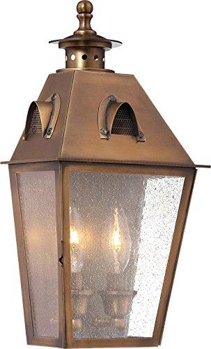 Minka Lavery Outdoor Wall Light 72420-212 Edenshire Aluminum Exterior Wall Lantern, 150 Watts, Brass