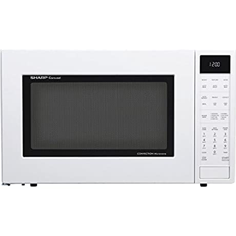 Sharp SMC1585BW 1 5 Cu Ft Microwave Oven With Convection Cooking Auto Defrost In White