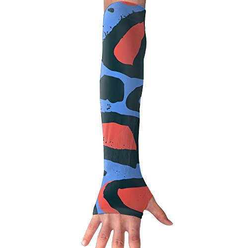 Unisex Colorful Textures Of Leopard Anti-UV Cuff Sunscreen Glove Outdoor Sport Climbing Half Refers Arm Sleeves