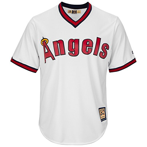 (Majestic Cooperstown Cool Base Jersey - Los Angeles Angels - L)