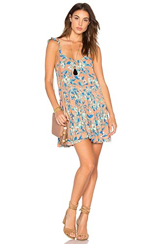 Free People Womens Dear You Floral Print Sleeveless Sundress Orange L from Free People