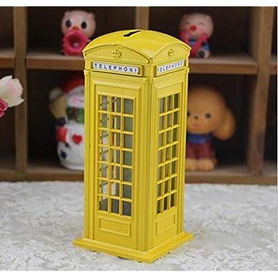 Vendun Phone Booth Deposit Bin, Perfect Unique Gift, Nursery Decoration, Souvenir Or Children's Deposit Bin: Garden & Outdoor