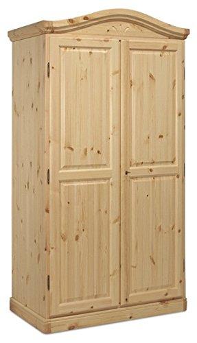 Arredamenti Rustici Armadio cornice curva in legno di pino-Grezzo ...
