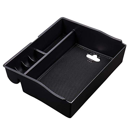 SUNKISSED For Toyota Sienna 2011-2019 Car Center Console Organizer Tray Accessories,Device Armrest Box Secondary Storage Insert ABS Black Material Sundries Container Easy Install