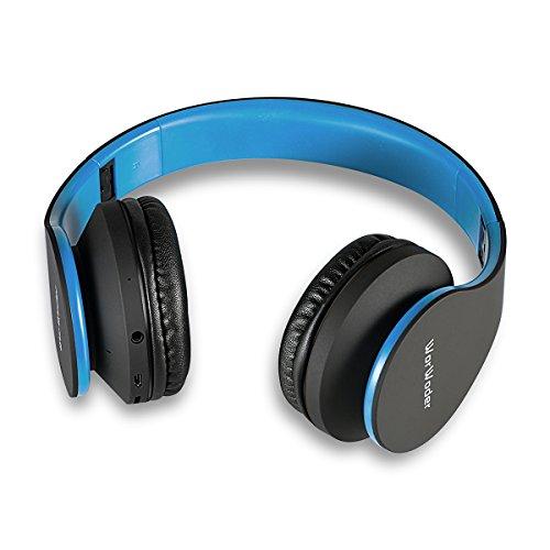Tablettes Pour Wireless Tv Pc Sans Support Casque Pliable Radio Fm Tf Téléphones Fil 4 Sd Stéréo 1 On Bluetooth Headphones En Notebook Noir bleu Avec Ear Micro qt11H