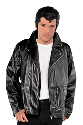 Grease Halloween Costumes Plus Size (Suit Yourself T-Birds Leather Jacket, Grease Halloween Costumes, Polyester, Plus)