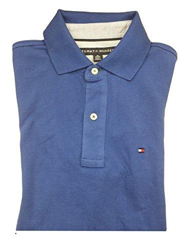 Tommy Hilfiger Classic Fit Men Polo T-shirt Ocean Blue M